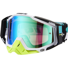 100% Racecraft Anti Fog Mirror goggles, st barth